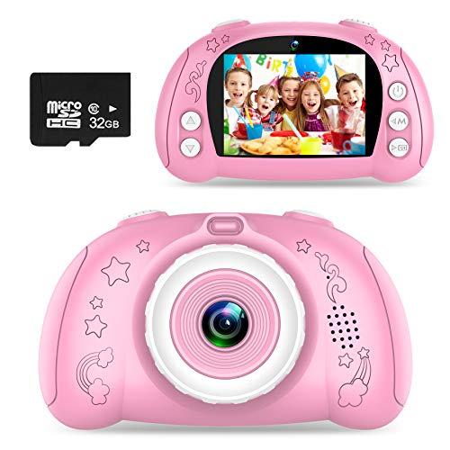 WOWGO Kinder Kamera, Digital Fotokamera Selfie Fotoapparat USB Wiederaufladbarer Videokamera mit 2.4 Zoll...
