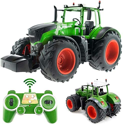 s-idee® S351 RC Traktor 1:16 mit 2,4 GHz ferngesteuert mit Licht und Sound Buldog