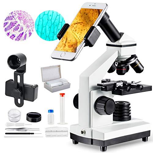 MAXLAPTER Mikroskop für Kinder ab 10 Jahre, Mikroskop 1000fach für Schüler, Experimentierkasten...