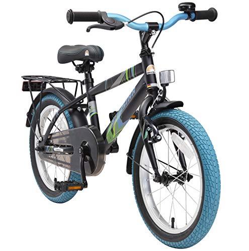 BIKESTAR Kinderfahrrad 16 Zoll für Jungen und Mädchen ab 4-5 Jahre | 16er Kinderrad Modern | Fahrrad...