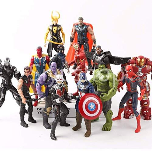 Siyushop Helden-Action-Figuren - Heldenfiguren-Modell-Set , Heldenpuppe Ornamente Handmodell...