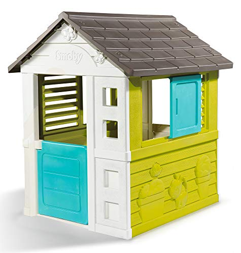 Smoby 810710 – Pretty Haus - Spielhaus für Kinder für drinnen und draußen, erweiterbar durch Smoby...