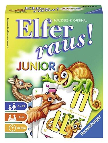 Ravensburger Kartenspiele 20760 Kinderkartenspiele Elfer Raus Junior