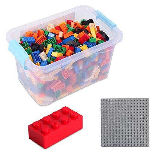 Bausteine - 520 Stück, Kompatibel zu Allen Anderen Herstellern - Inklusive Box und Grundplatte,...