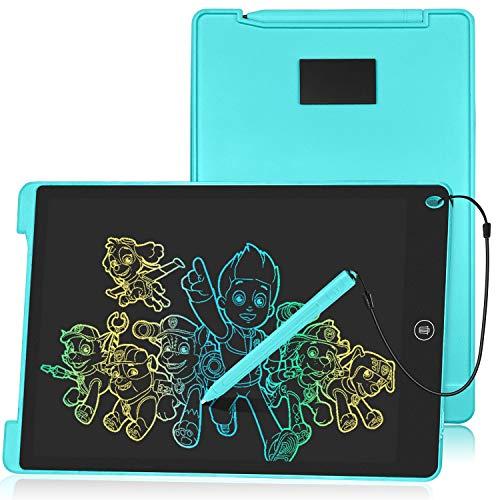 HOMESTEC Schreibtafel 12 Zoll, Buntes Display, LCD Elektronische Maltafel für Kinder, Display Kinder...
