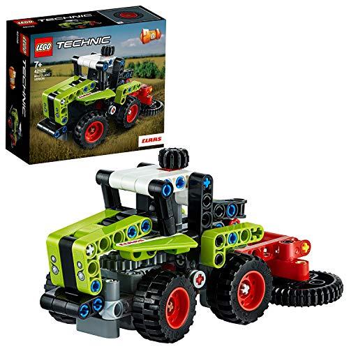 LEGO42102TechnicMiniCLAASXERIONTraktor&Feldhäcksler,2-in-1Bausatz,Sammlungvon...
