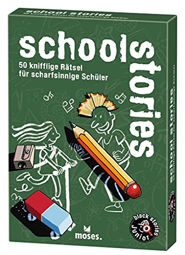 moses. black stories Junior school stories  50 knifflige Rätsel für Schüler   Das Rätsel Kartenspiel...