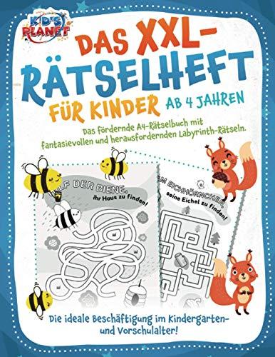 Das XXL-Rätselheft für Kinder ab 4 Jahren: Das fördernde A4-Rätselbuch mit fantasievollen und...