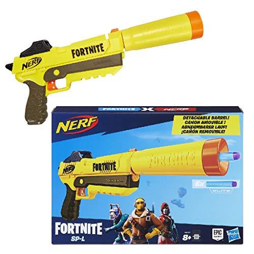 Nerf E6717EU4 SP-L Blaster mit abnehmbarem Lauf und 6 Fortnite Elite Darts für Jugendliche und...