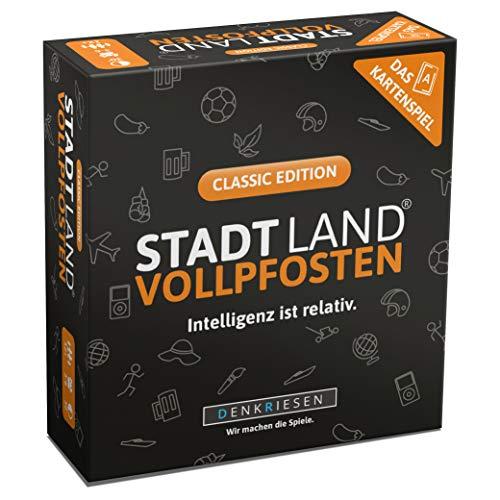 DENKRIESEN - Stadt Land VOLLPFOSTEN - Das Kartenspiel - Classic Edition | Wichtelgeschenk | Stadt Land...