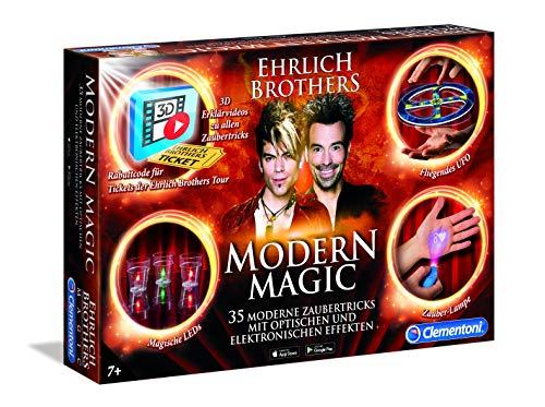 Clementoni 59050 Ehrlich Brothers Modern Magic, Zauberkasten für Kinder ab 7 Jahren, magisches Equipment...