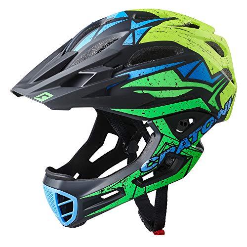 Cratoni C-Maniac Pro Fahrradhelm Downhill BMX Fullfacehelm Kinnbügel Mountainbikehelm...