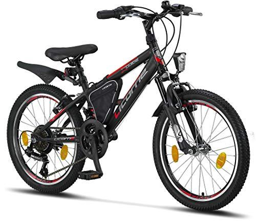 Licorne Bike Guide Premium Mountainbike in 20 Zoll - Fahrrad für Mädchen, Jungen, Herren und Damen - 18...