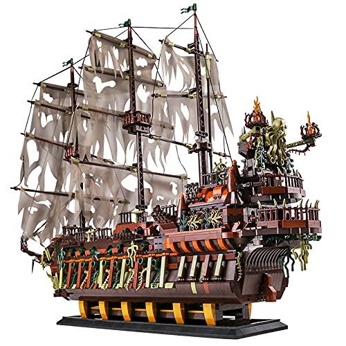 KEAYO Piratenschiff Modell, Mould King 13138, Fliegender Holländer Segelschiff, 3653 Teile Groß MOC...
