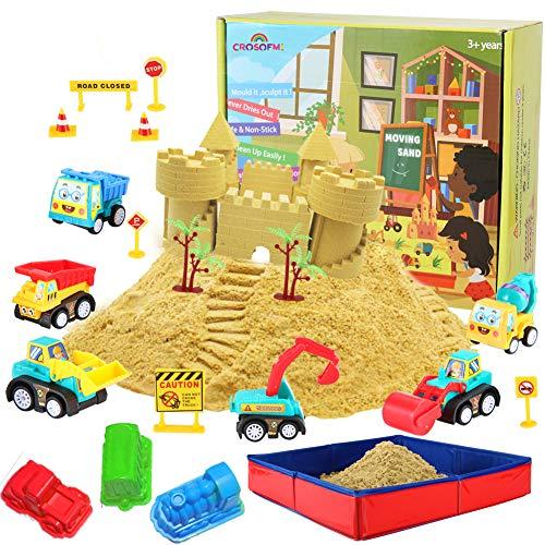 CROSOFMI Magic Sand Für Kinder Set Spielsand Faltbarer Sandkasten für Jungen Mädchen 3 4 5 6 7+ Jahre...