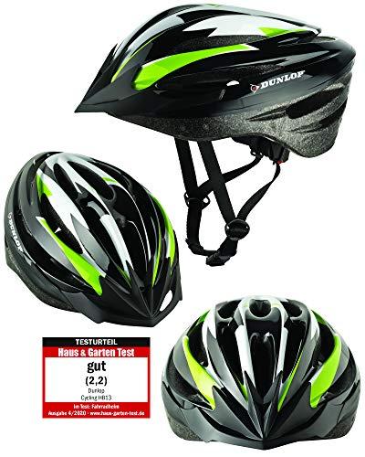 Fahrradhelm Dunlop HB13 für Damen, Herren, Kinder, EPS Innenschale, Abnehmbares Visier für optimalen...