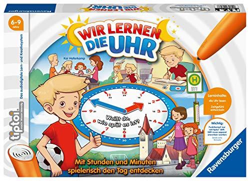 Ravensburger tiptoi Spiel 00847 - Wir lernen die Uhr - interaktives Lernspiel ab 6 Jahren, mit digitaler...
