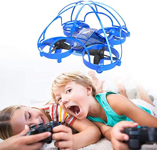 Mini Drohne für Kinder und Anfänger, RC Drone 360° Schutz, Spielzeug Drohne für Kinder, 3D-Flip,...