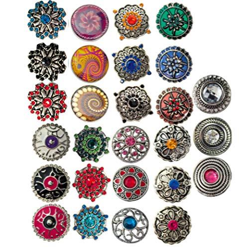 Sunsa Damen Mädchen, Schmuck Geschenke Für Frauen Click-Buttons Druckknöpfe für Chunks Halskette,...