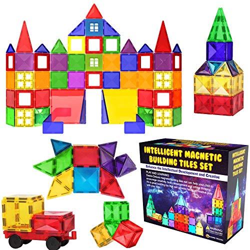 Desire Deluxe Magnetische Bausteine Magnet Montessori Spielzeug für Kinder, Lernspielzeug für Jungen...