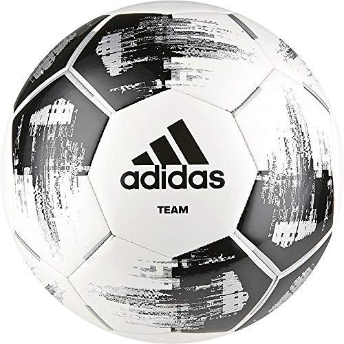 adidas CZ2230 Team Glider Fußball, White/Black/Silver Metallic, 5 (M)