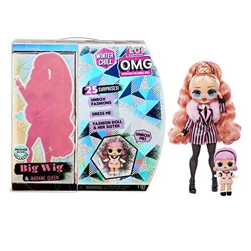 LOL Surprise OMG Winter Chill Big Wig Modepuppe und Madame Queen Puppe mit 25 Überraschungen