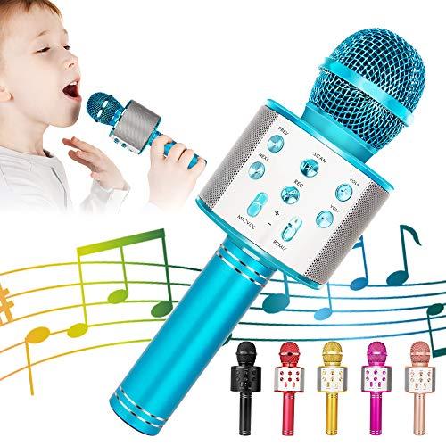 KIDWILL Bluetooth Karaoke Mikrofon, 5 in 1 Drahtloser Mikrofon für Kinder, Kinder Mikrofon mit...