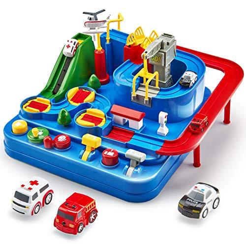 Auto Spielzeug ab 3 4 5 6 Jahre, Track Cars Spielzeug für Kinder Jungen Mädchen, Spielzeug Abenteuer...