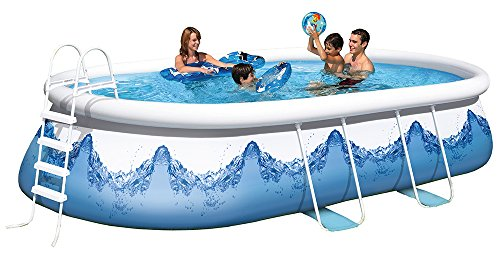 Happy People 18110 Wehncke Quick Up Pool' Manhatten' Komplett Set, blau