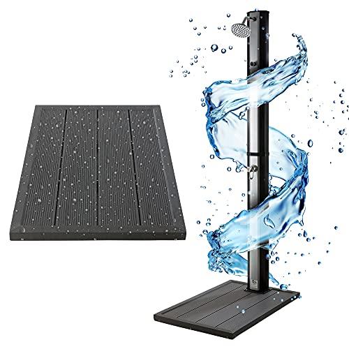 Arebos Solardusche 35L & Bodenelement | mit integriertem Thermometer & Fußdusche | Pooldusche für den...