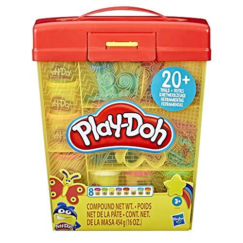 Play-Doh E9099 Großes Knetset mit Aufbewahrungsbox für Kinder ab 3 Jahren mit 8 Farben und über 20...