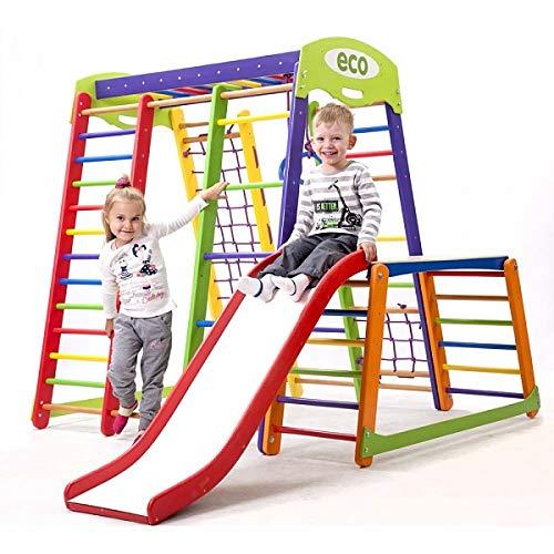 Kinder Aktivitätsspielzeug Kletterturm mit Rutsche'Akvarelka-plus-1-1' Spielcenter Spielplatz
