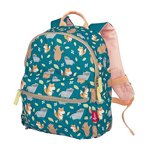 SIGIKID 25131 Rucksack Fuchs Colori Mädchen und Jungen Kinderrucksack empfohlen ab 2 Jahren grün,...