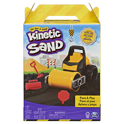 Kinetic Sand 6056481 Pave Play Construction Set with Vehicle Black, for Kids Aged 3 and Up Pavé-und...