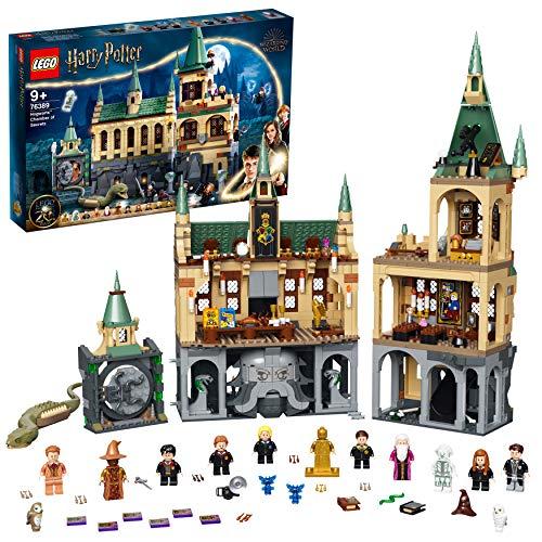 LEGO 76389 Harry Potter Schloss Hogwarts Kammer des Schreckens Spielzeug, Set mit Voldemort als goldene...