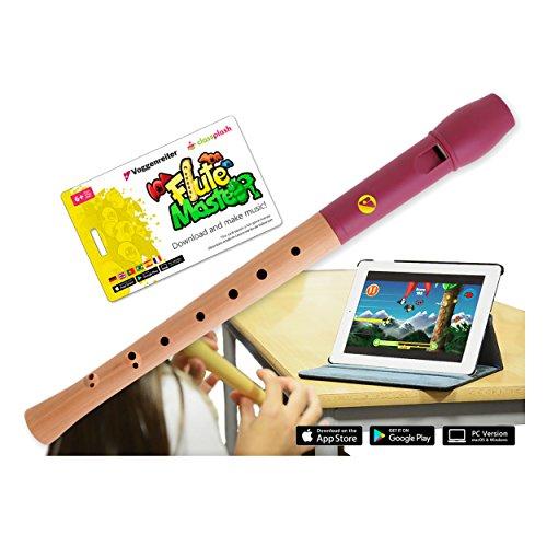 VoggenreiterBlockflöte aus Holz & Kunststoff für Kinder ab 6 Jahre inkl.Flute Master(Lernsoftware...