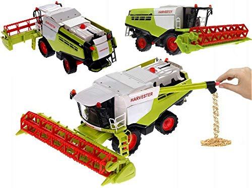 TOP SHOP 40cm Mähdrescher, Kunststoff, Abnehmbares Mähwerk mit passendem Anhänger, Viele Funktionen,...