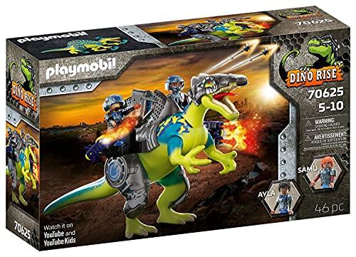 PLAYMOBIL Dino Rise 70625 Doppelte Verteigungspower: Dinosaurier Spinosaurus mit Schutzpanzer und Kanonen...