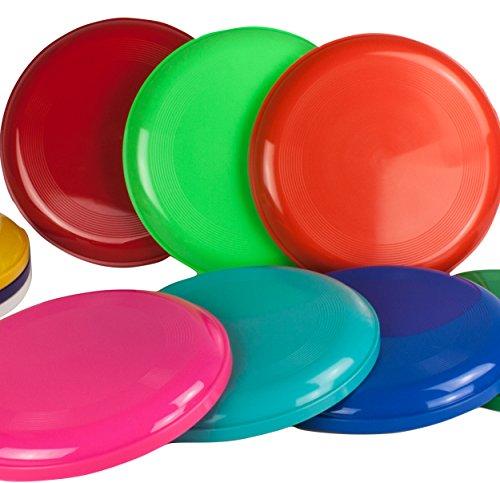 SchwabMarken Frisbee Disc/Frisbees/Wurfscheiben farblich gemischt 5 Frisbee bunt gemsicht - Nicht...