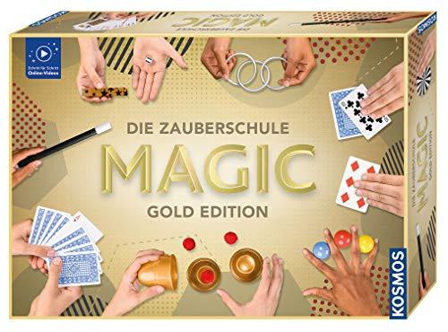 Kosmos 698232 Zauberschule Magic Gold Edition, 150 ZauberTricks von leicht bis anspruchsvoll, viele...