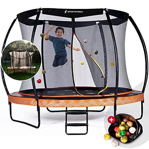 Sportstech Gartentrampolin Marktneuheit HTX500   mit 360° Wassersprinkler + Cooler Sprungmatte   Outdoor...