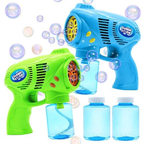 JOYIN 2 Seifenblasenpistole mit 2 Flaschen Seifenblasenflüssigkeit(insgesamt 10 oz) - Seifenblasenset...