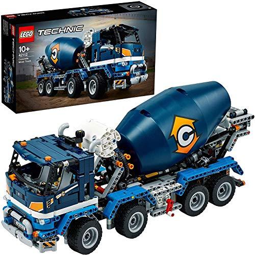 LEGO 42112 Technic Betonmischer-LKW Baufahrzeug, Konstruktionsspielzeug