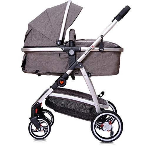Lalalux Babyboomer leichter Kombikinderwagen Komplettset, Multifunktions-Kinderwagen, klappbar,...