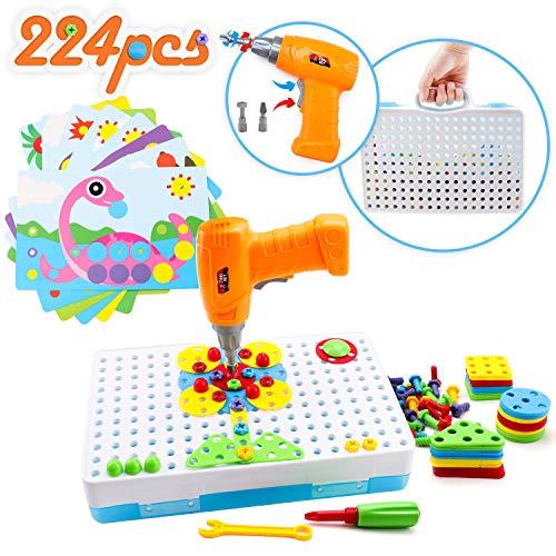 Amy&Benton 3D Mosaik Steckspiel Pegboard Puzzle, Kinder Spielzeug ab 3, Spielzeug 4 Jahre Junge,...