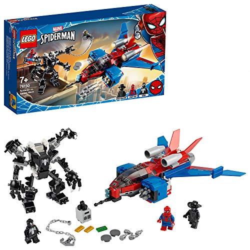 LEGO76150SuperHeroesSpiderjetvs.VenomMechSpielsetmitSpider-ManNoirMinifigur