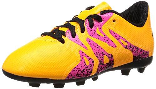 adidas X 15.4 FxG, Unisex-Kinder Fußballschuhe, Orange (Solar Gold/Core Black/Shock Pink), 36 EU (3.5...