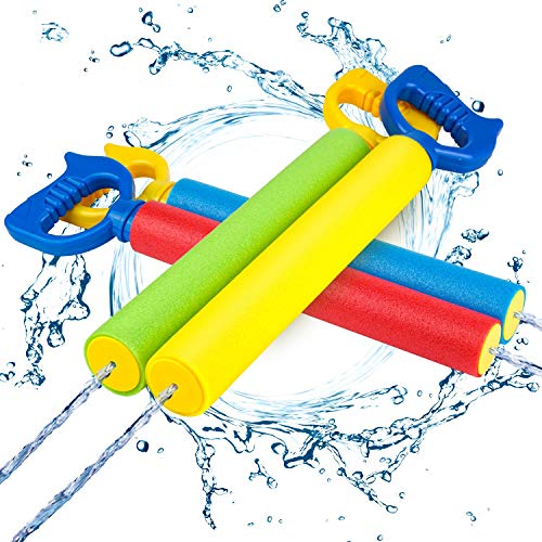 Kiztoys Wasserpistole,Bunte Kinder Schaum Wasserpistole Spritzpistole 4 Stück Set,Water Gun mit 6-8...