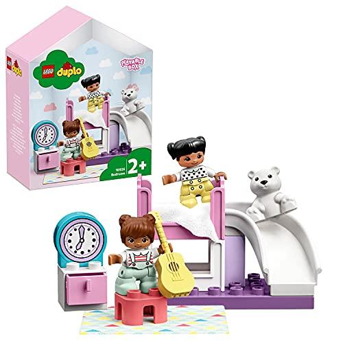 LEGO 10926 DUPLO Kinderzimmer-Spielbox, Lernspielzeug, Puppenhaus mit großen Bausteinen, Spielzeug für...
