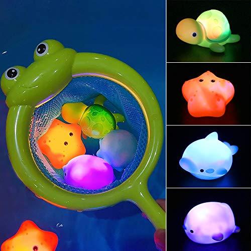 MMTX Baby Badespielzeug, Leuchtendes Badewannenspielzeug Wasserspielzeug Baby Bade Schwimmen Badewanne...